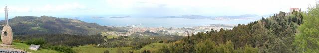 Vistas de la ría de Vigo desde el monte Cepudo
