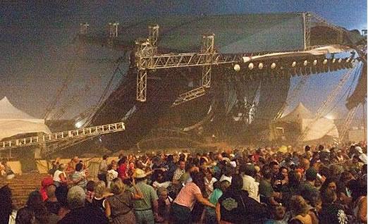acidente palco estrutura eventos