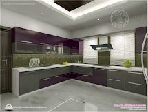 Kitchen Interior Views Ss Architects Cochin - Kerala