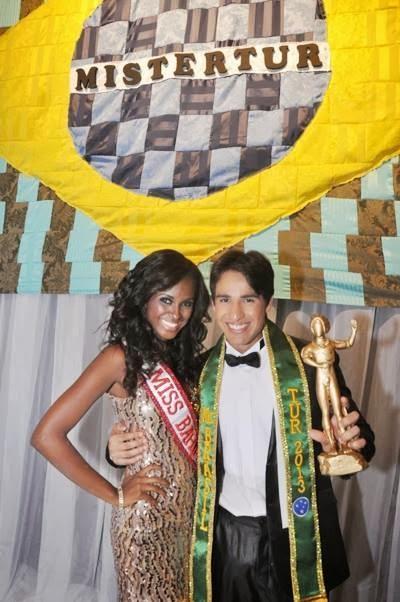 Mauro Emiliano ao lado da Miss Bahia, Priscila Santiago. Foto: Divulgação