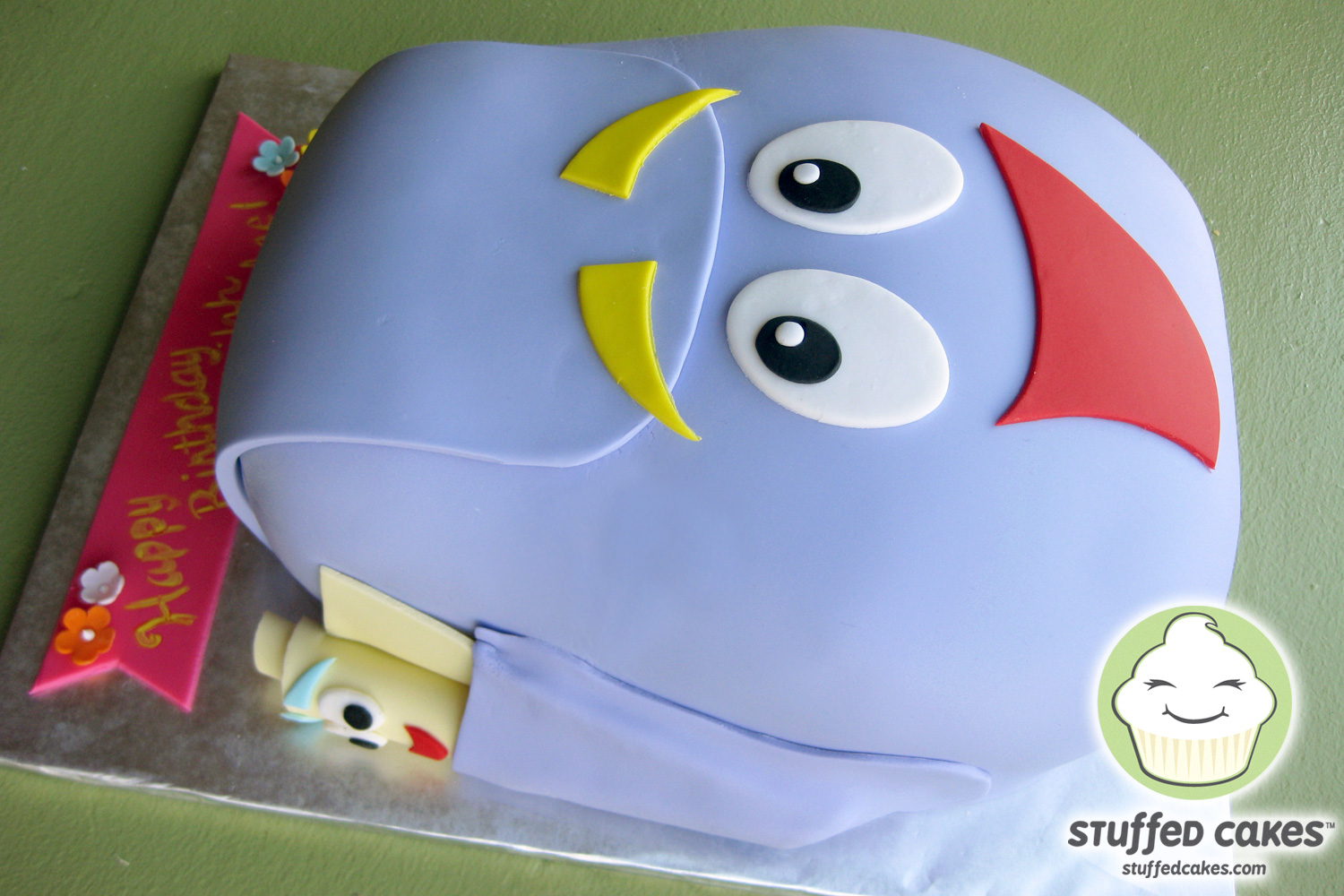 Stuffed Cakes: Dora The Explorer Backpack Cake and Toppers