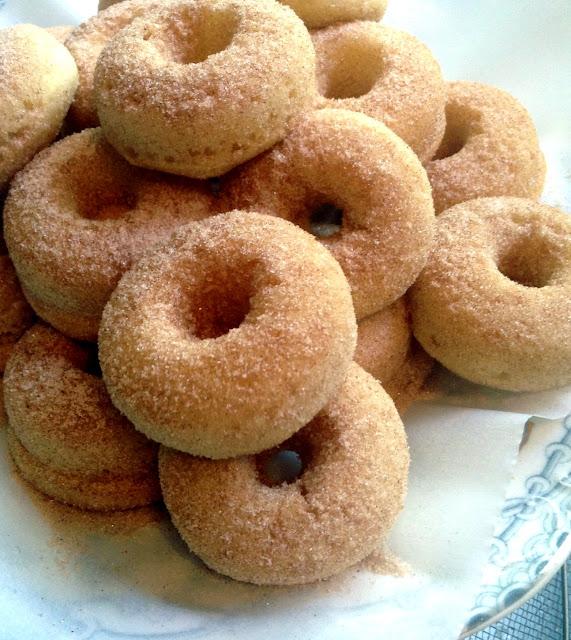 ... 17*: Snickerdoodle Doughnut Gems {Gluten-free, baked mini doughnuts