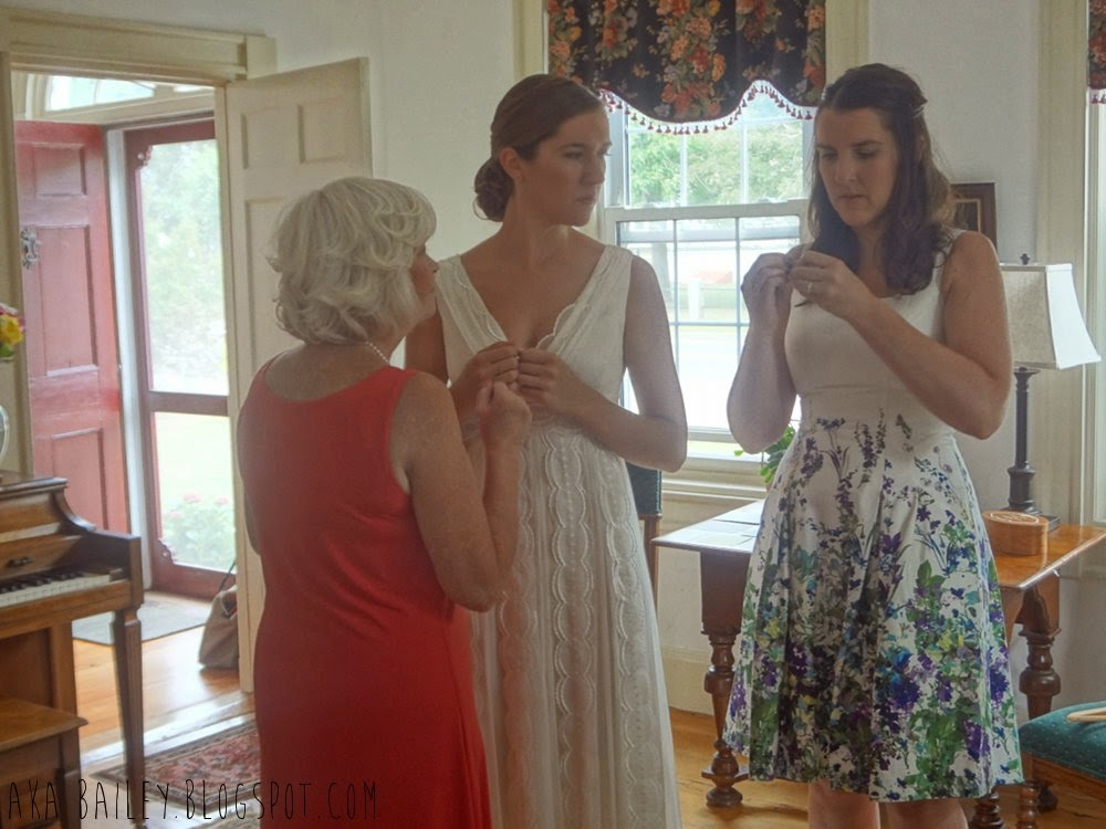 Bride with the Maid of Honor and Mother of the Groom