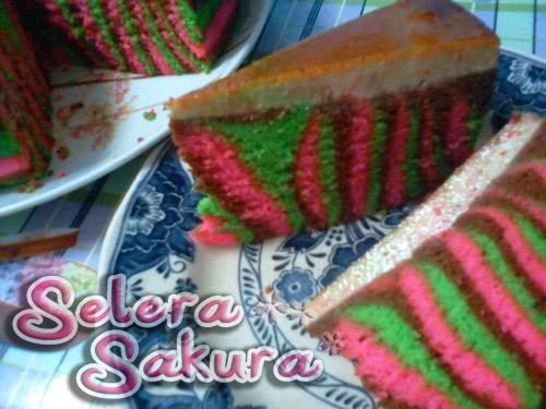 Kek Karamel Pandan Choco-Berry