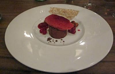 Dark Chocolate & Creme Fraiche Torte. Purnells Bistro