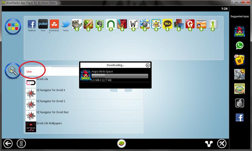 setelah ketemu aplikasi line . download dan install.