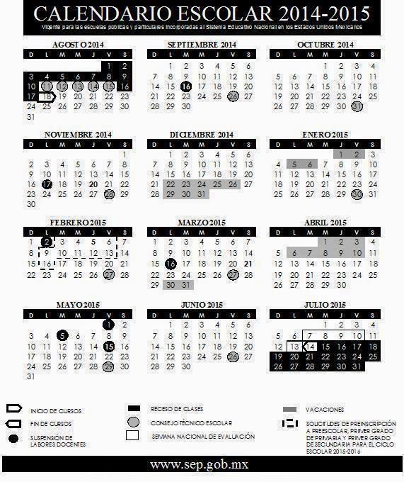 Supervisión Escolar Papantla: Alista la SEP calendario escolar ...