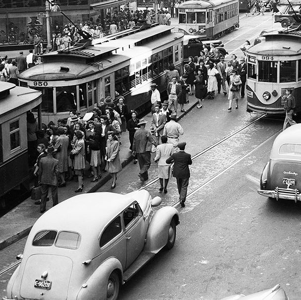 Atlanta trolley 1945