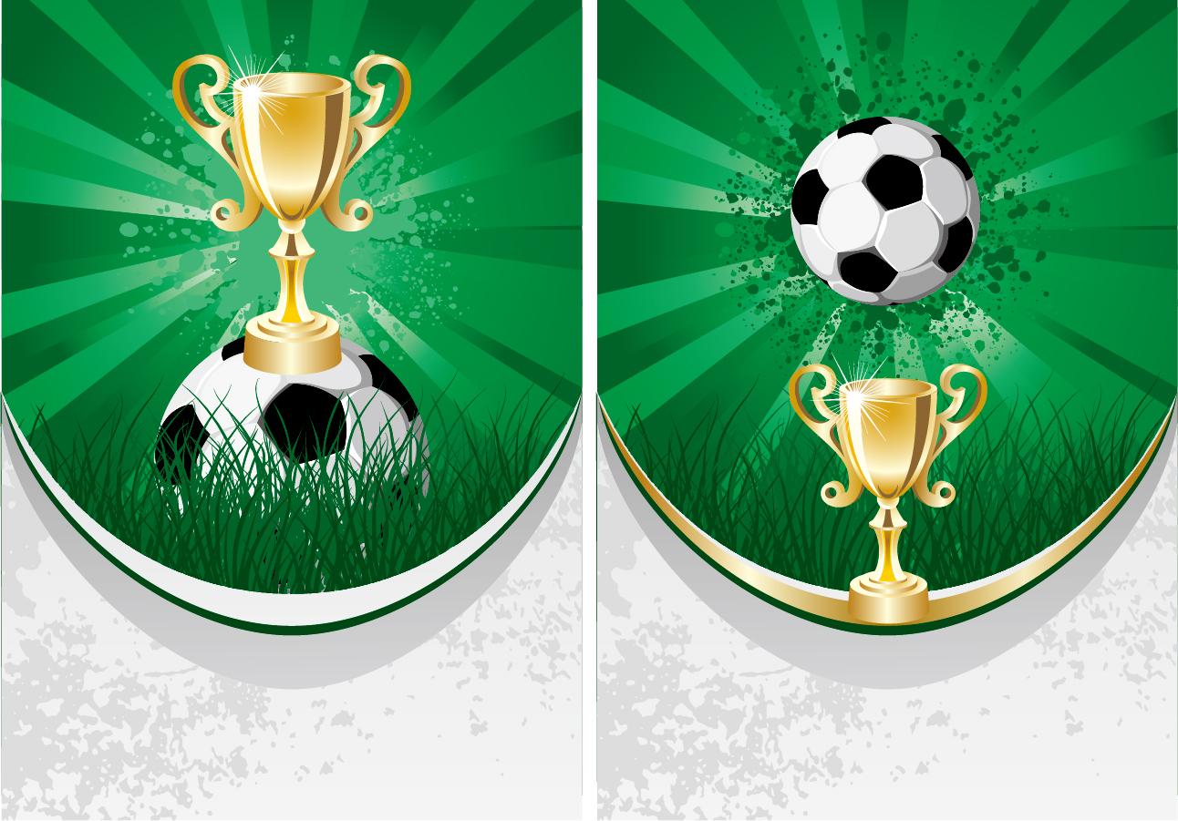 ワールドカップ サッカーをテーマにしたクリップアート World Cup Football theme vector イラスト素材1