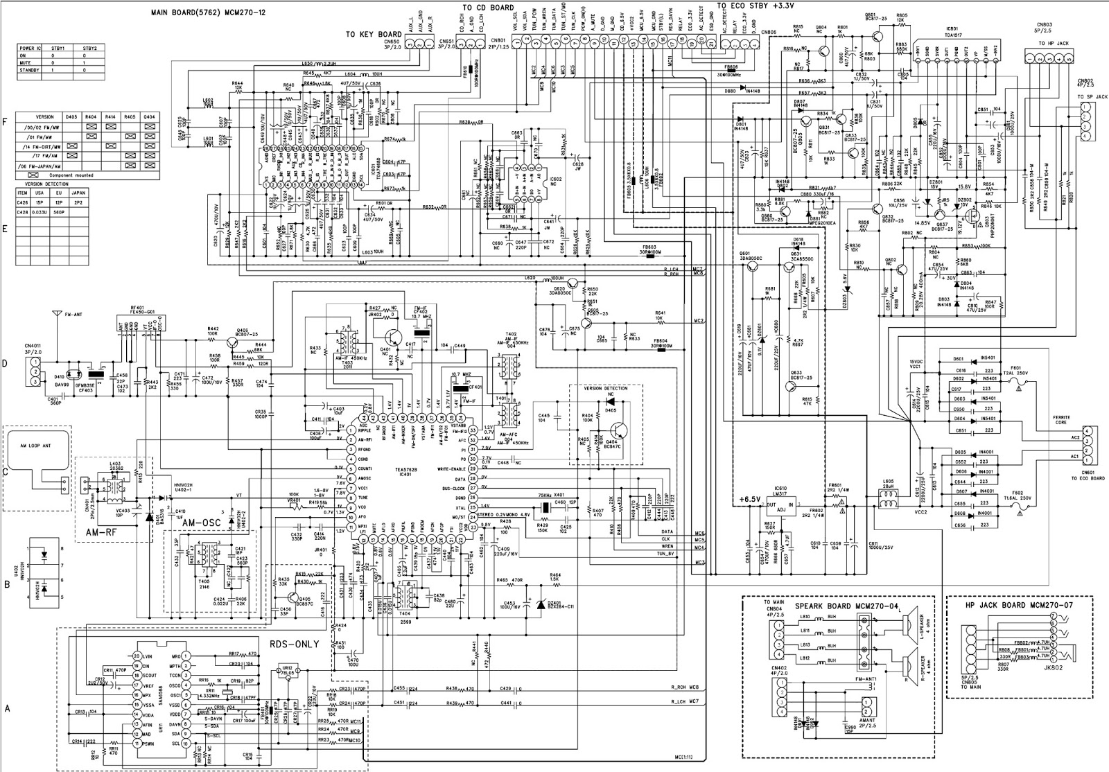 philips mcm277  05  12  98 - microsystem - main board - mcu board - schematic diagram