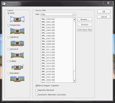 Using Photomerge in Adobe Photoshop CS6 - Photomerge dialog box