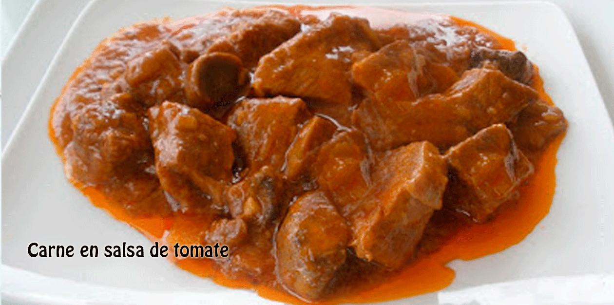 Carne en salsa de tomate recetas f ciles - Filetes de carne en salsa ...
