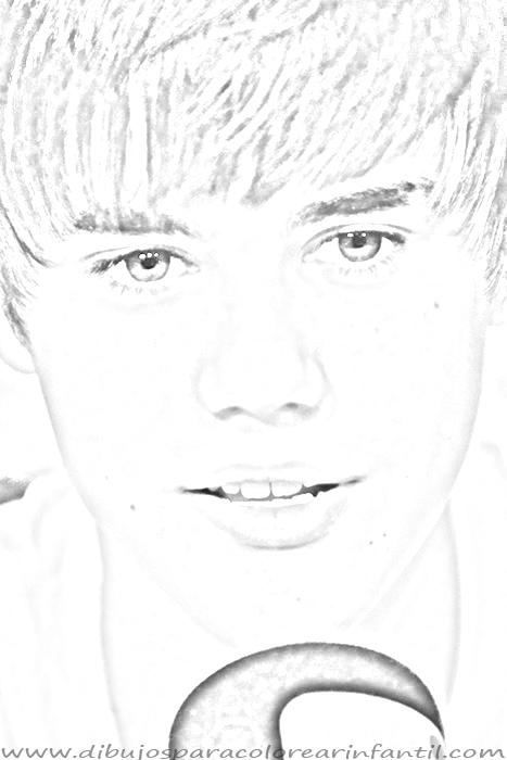 Dibujos de Justin Bieber para imprimir y colorear ~ Dibujos para ...