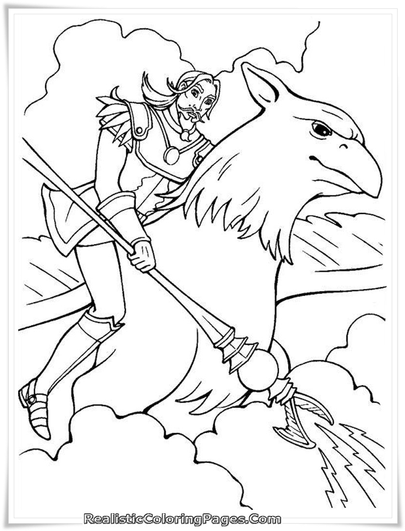 Barbie And The Magic Of Pegasus Girls Coloring Pages