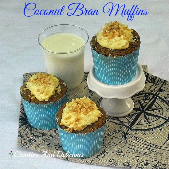 Coconut Bran Muffins ~ healthy & delicious ! #Muffins #CoconutMuffins #Healthy