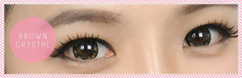 Brown Crystal Contact Lenses at ohmylens.com