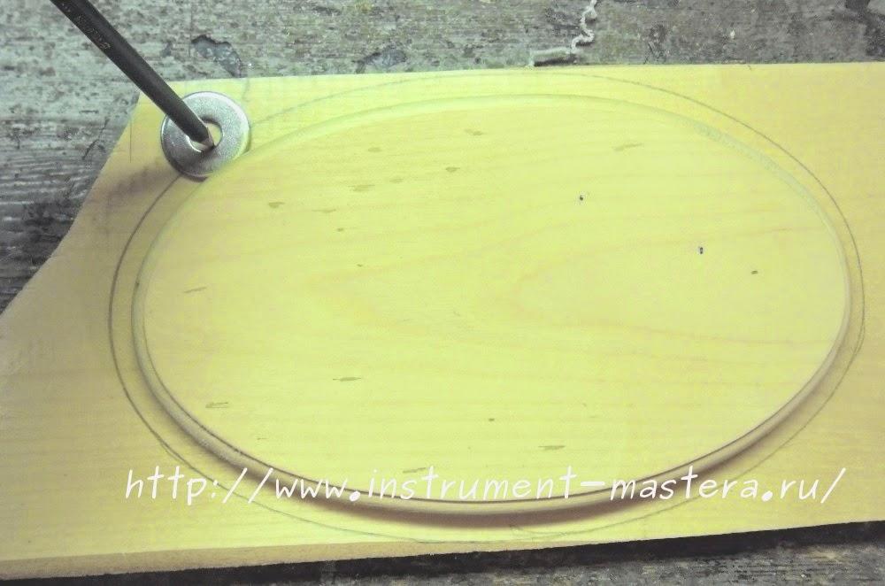 Металлическая шайба для разметки заготовки