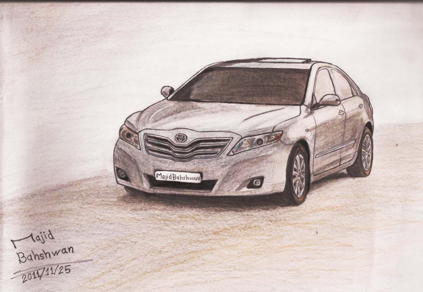 Panzen خطوات رسم سيارة بالصور