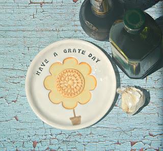Thebabyhandprintcompany Ceramic Grater Plates With Fun