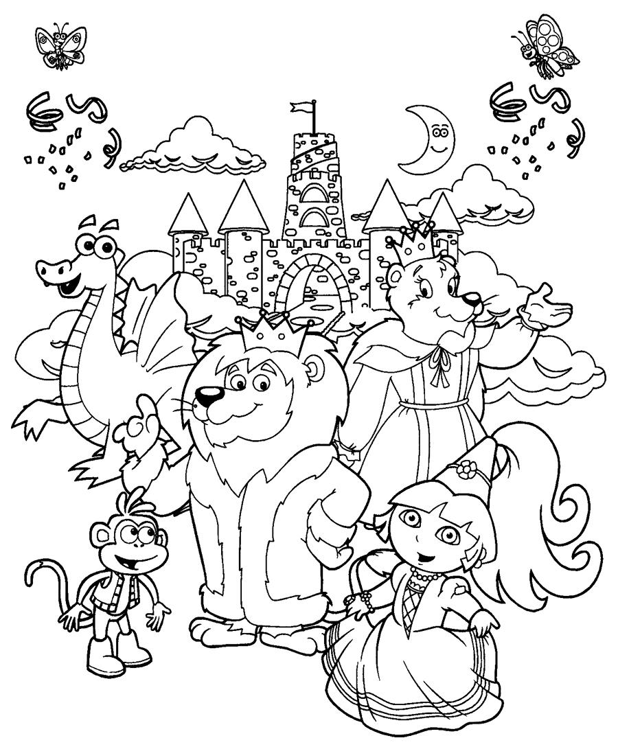 Coloriages A Imprimer Coloriage Dora Et Ses Amis