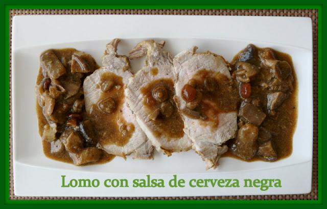 Lomo De Cerdo Con Salsa De Cerveza Negra