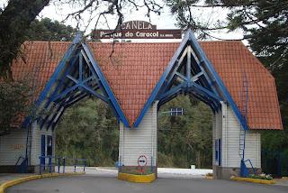 Entrada do parque do Caracol, em Canela - RS