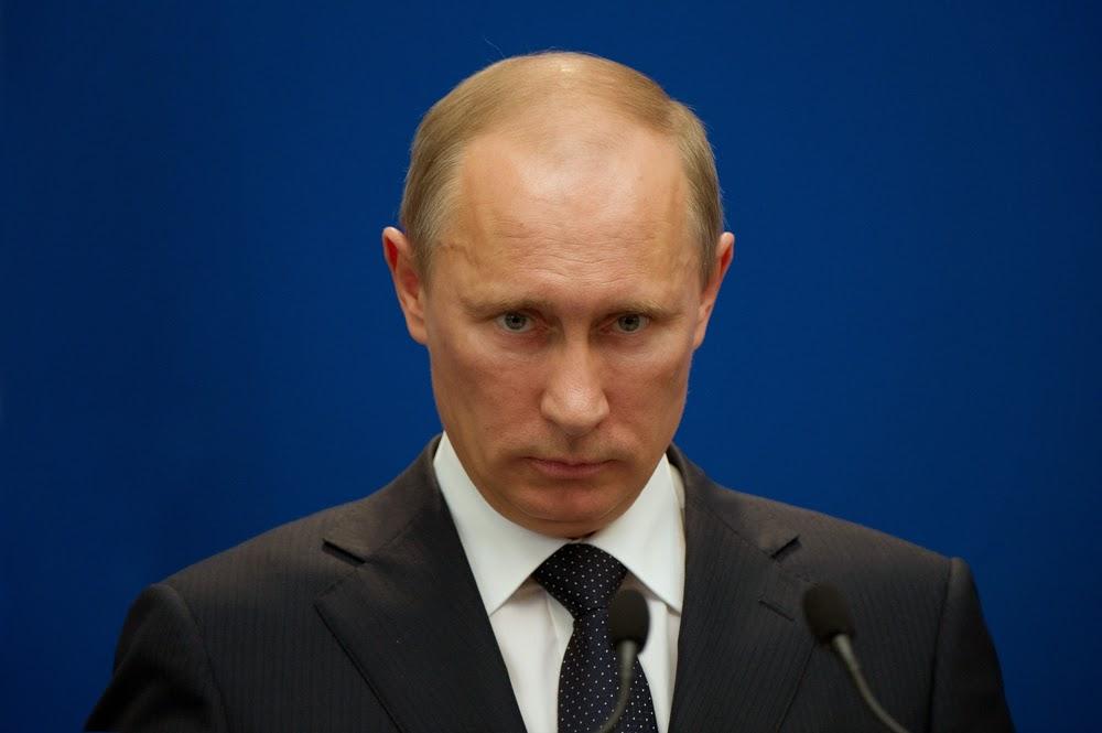 New specialized press photo agency in photos of dark dreinblickendem Putin