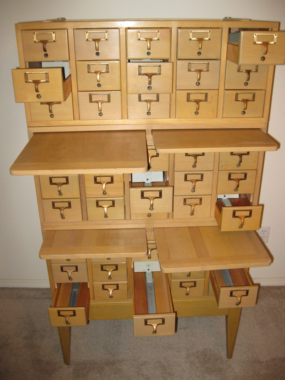 PRICE GUIDE VINTAGE FURNITURE Vintage Library Card Catalog Bureau