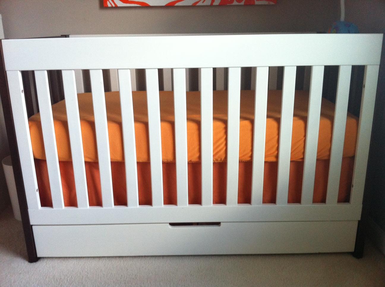 Orange Baby Crib Bedding