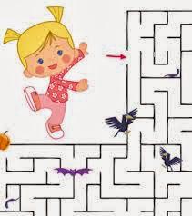 Halloween Maze printable - easy for kids 1
