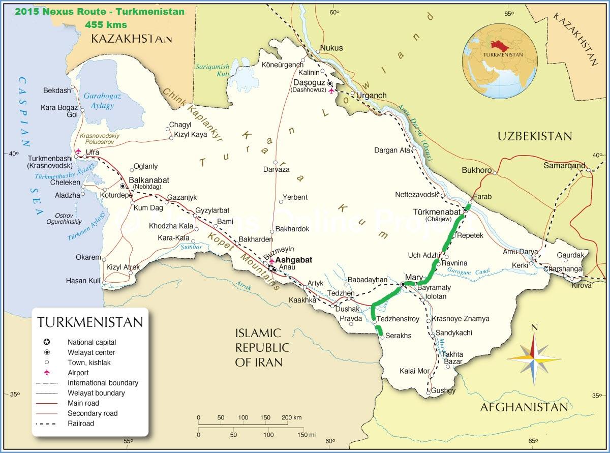 Nexus expedition 2015 nexus expedition route uzbekistan 2015 nexus route turkmenistan 455 kms sciox Image collections
