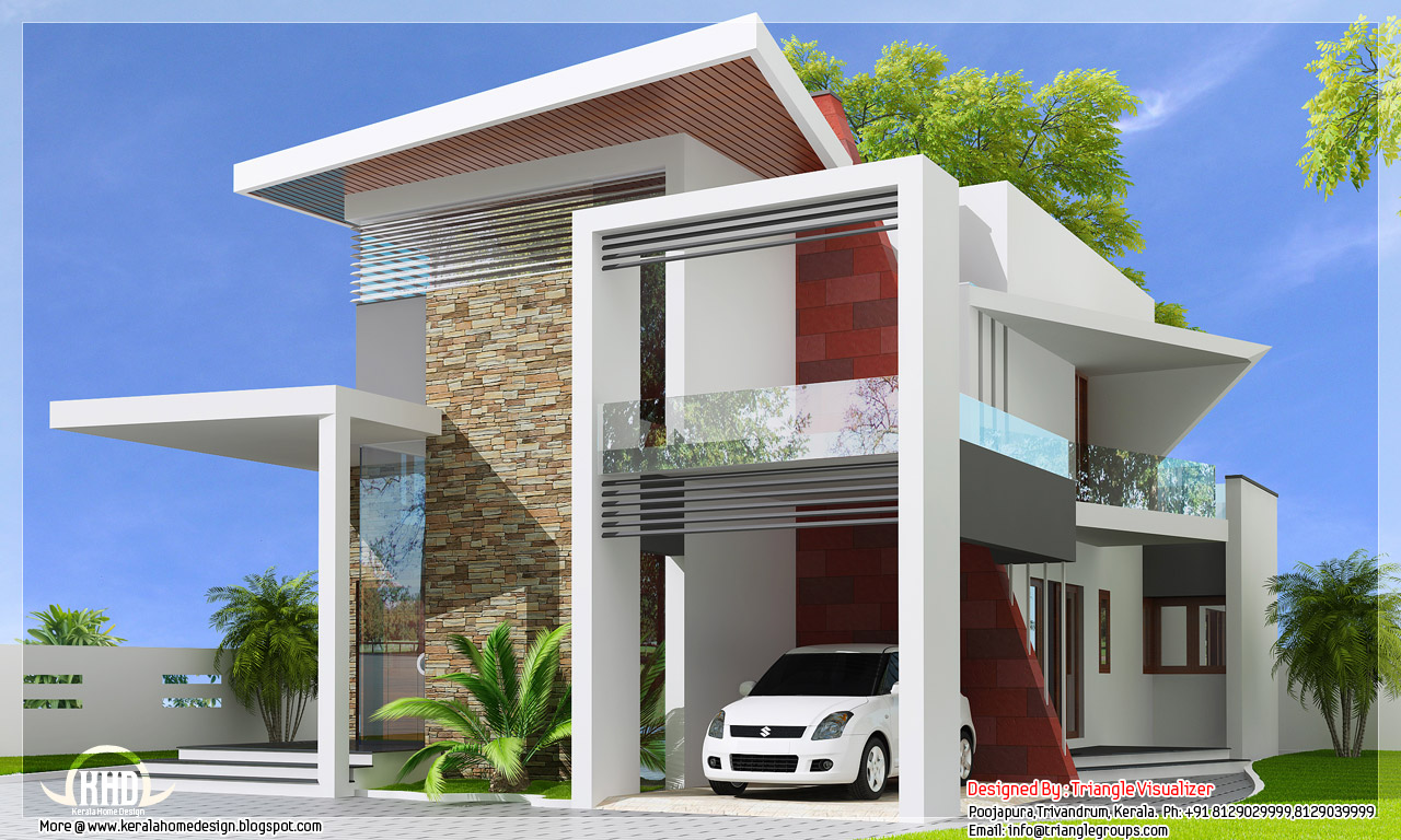 ... about this trendy House Elevation, Contact (Home Design in Trivandrum
