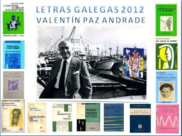 VALENTÍN PAZ ANDRADE: LIBRO LIM. LETRAS GALEGAS 2012