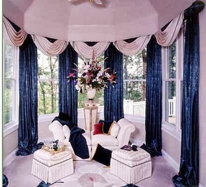 living room interior design: unique curtains designs 2014