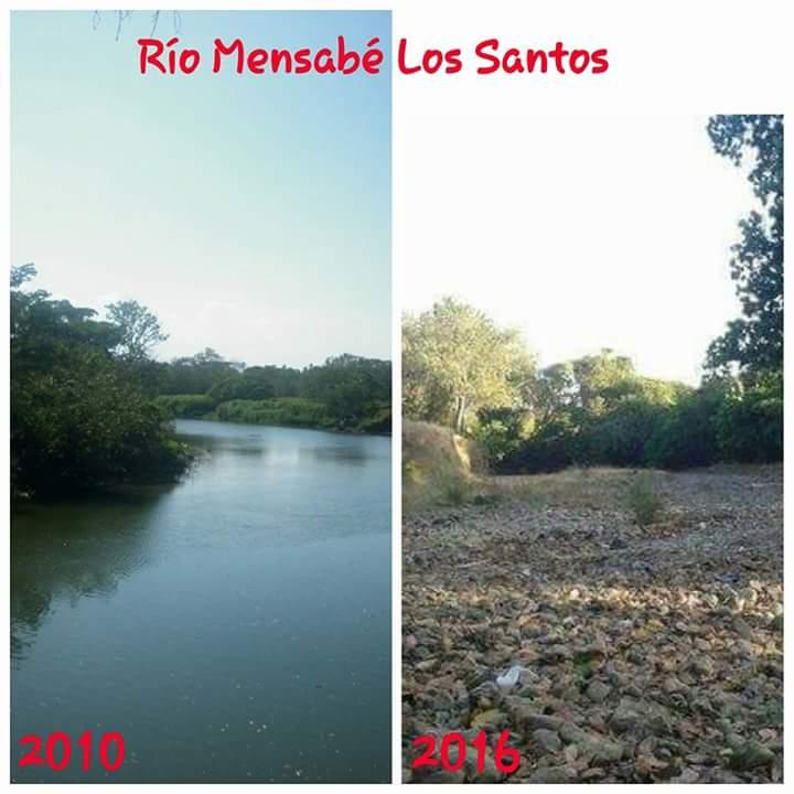 Ríos en Panama se secan