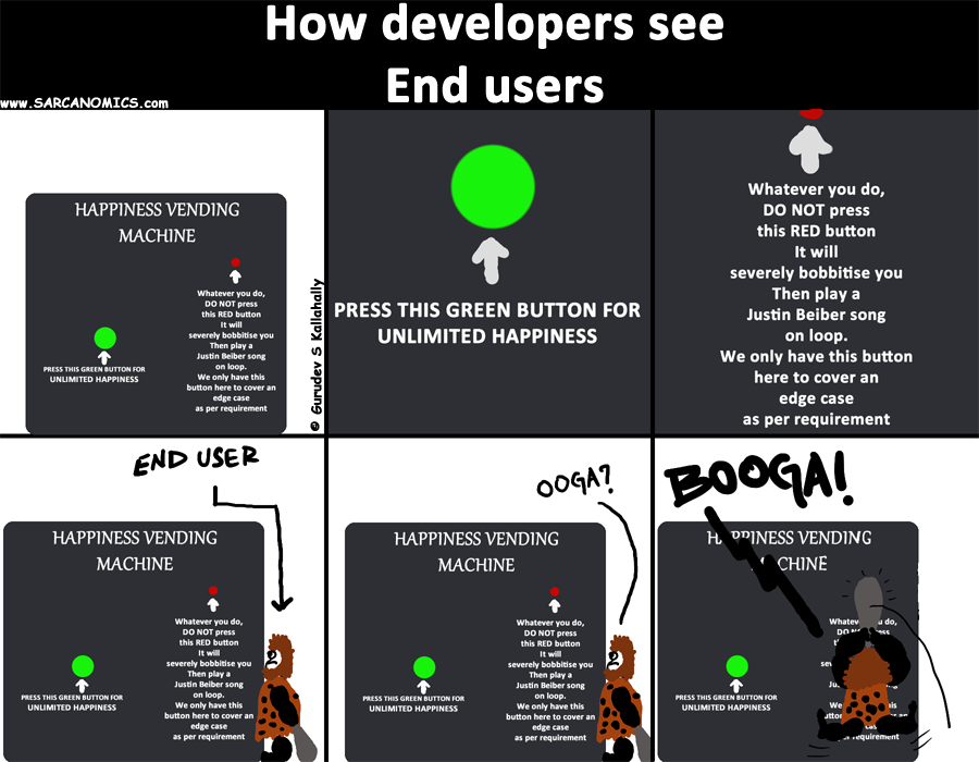 How software developers see end users
