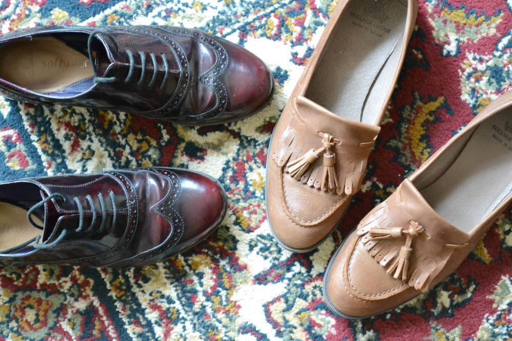 brogues clarks loafers college green tan