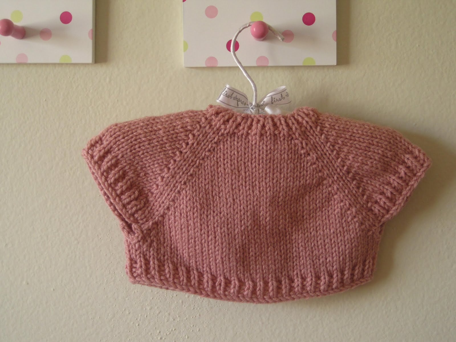 nat & callie knits.: A Quick Knit Baby Shrug