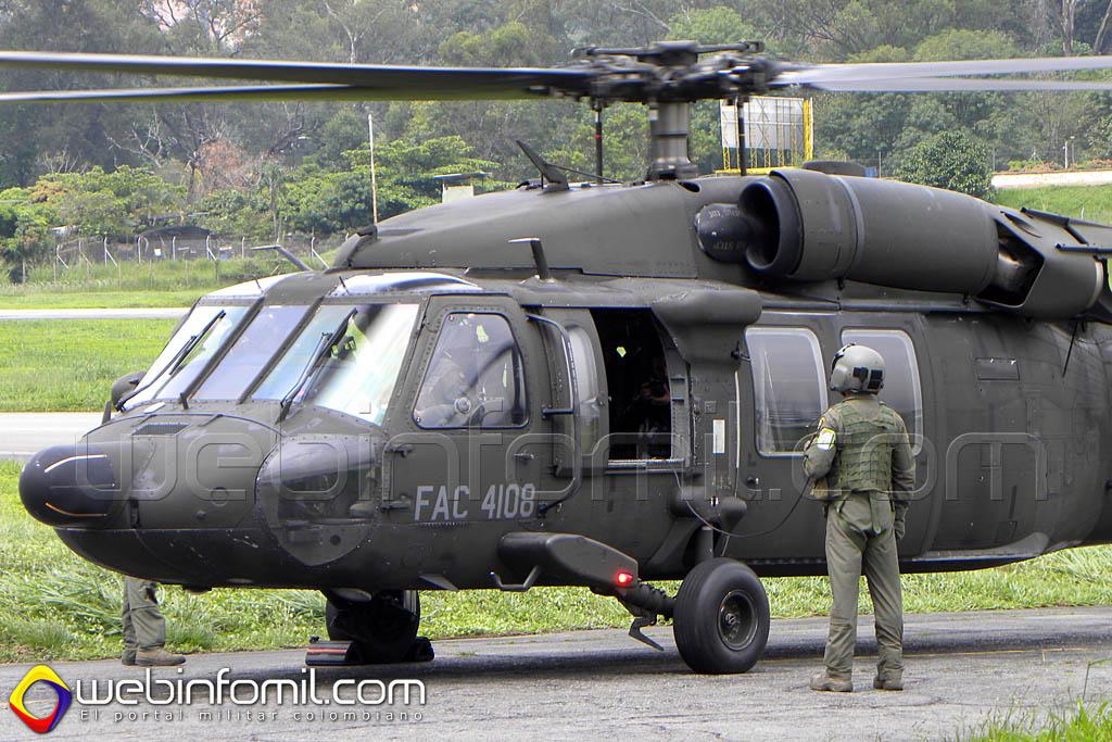 FAC4108 Helicópteros Ángel de la Fuerza Aérea Colombiana están dispuestos para apoyar a los colombianos que se encuentren en situaciones de peligro o necesiten atención médica prioritaria.