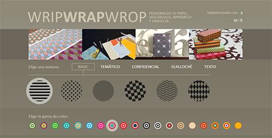 WripWrapWrop - personaliza papel de regalo