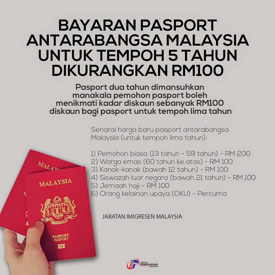 Pasport Antarabangsa Malaysia Terkini 2015