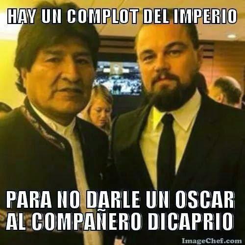 Evo Morales y Leonardo Dicrapio-cochabandido-blog-meme