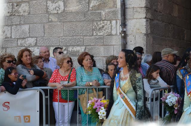 fallera - ofrenda de flores santa maría la mayor - burgos - san pedro 2013