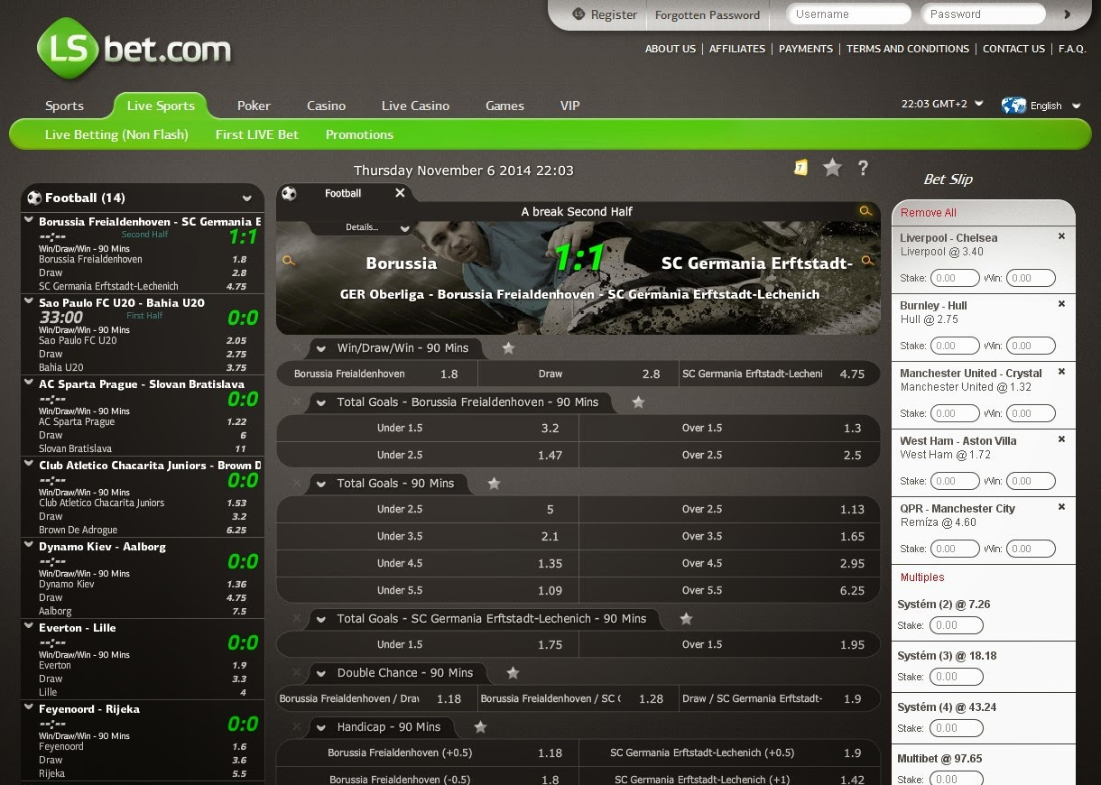 LSbet Live Betting Screen