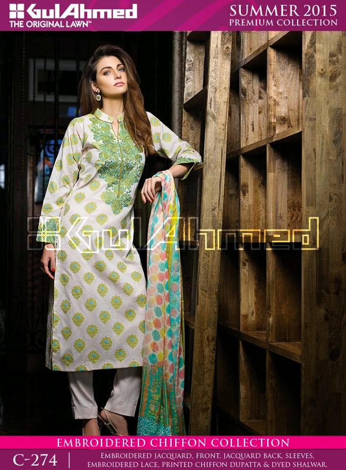 Gul ahmed lawn suits 2015
