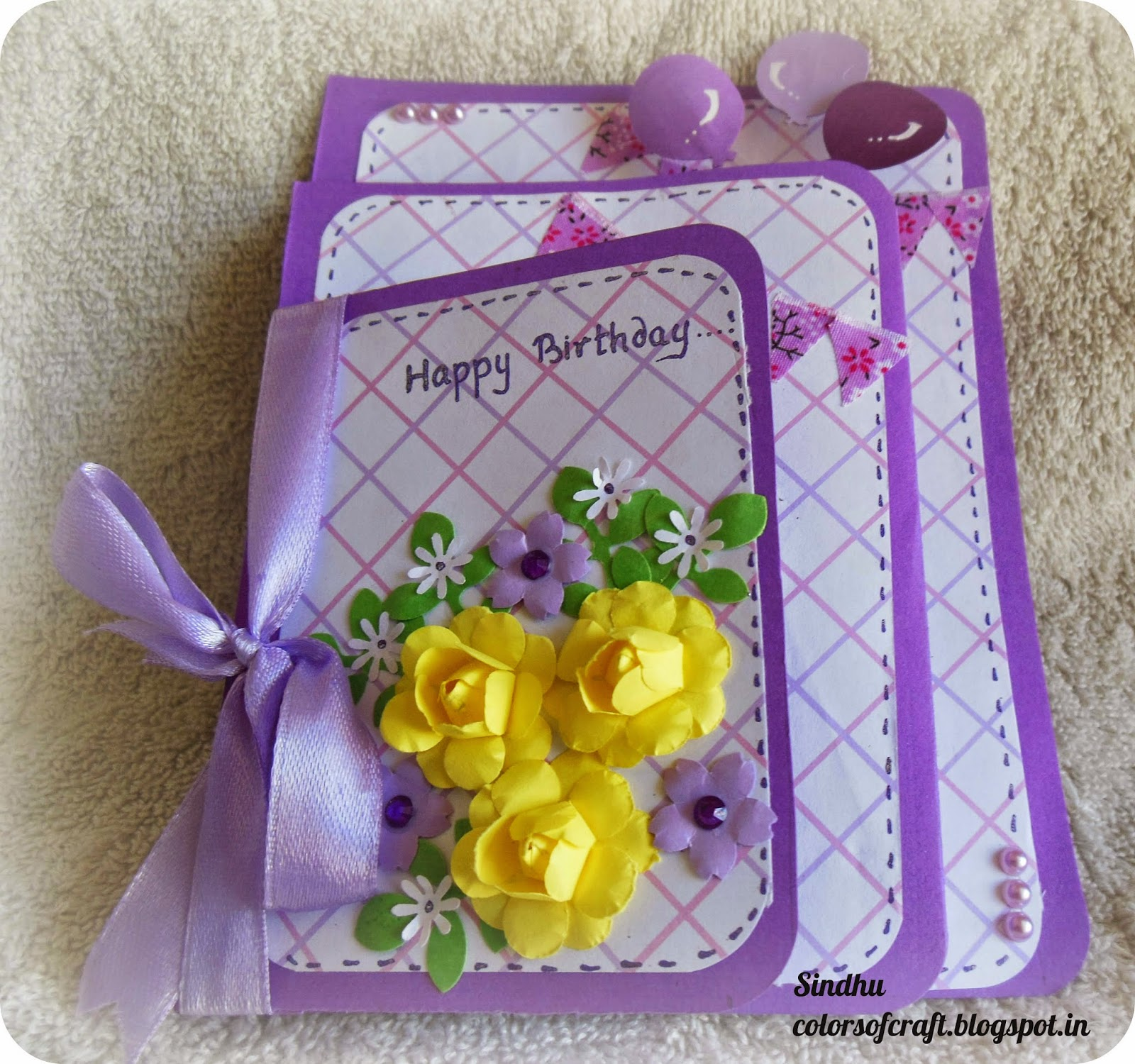 Colors of my crafty world happy birthday card happy birthday card bookmarktalkfo Gallery