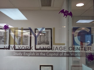 photo: Halloween decorations at NYLC Midtown