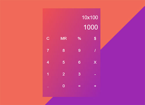 Calculator only with CSS