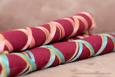 Stuffed Dandiya or Wands Tutorial from Make it Handmade