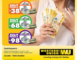 western union rates 2015
